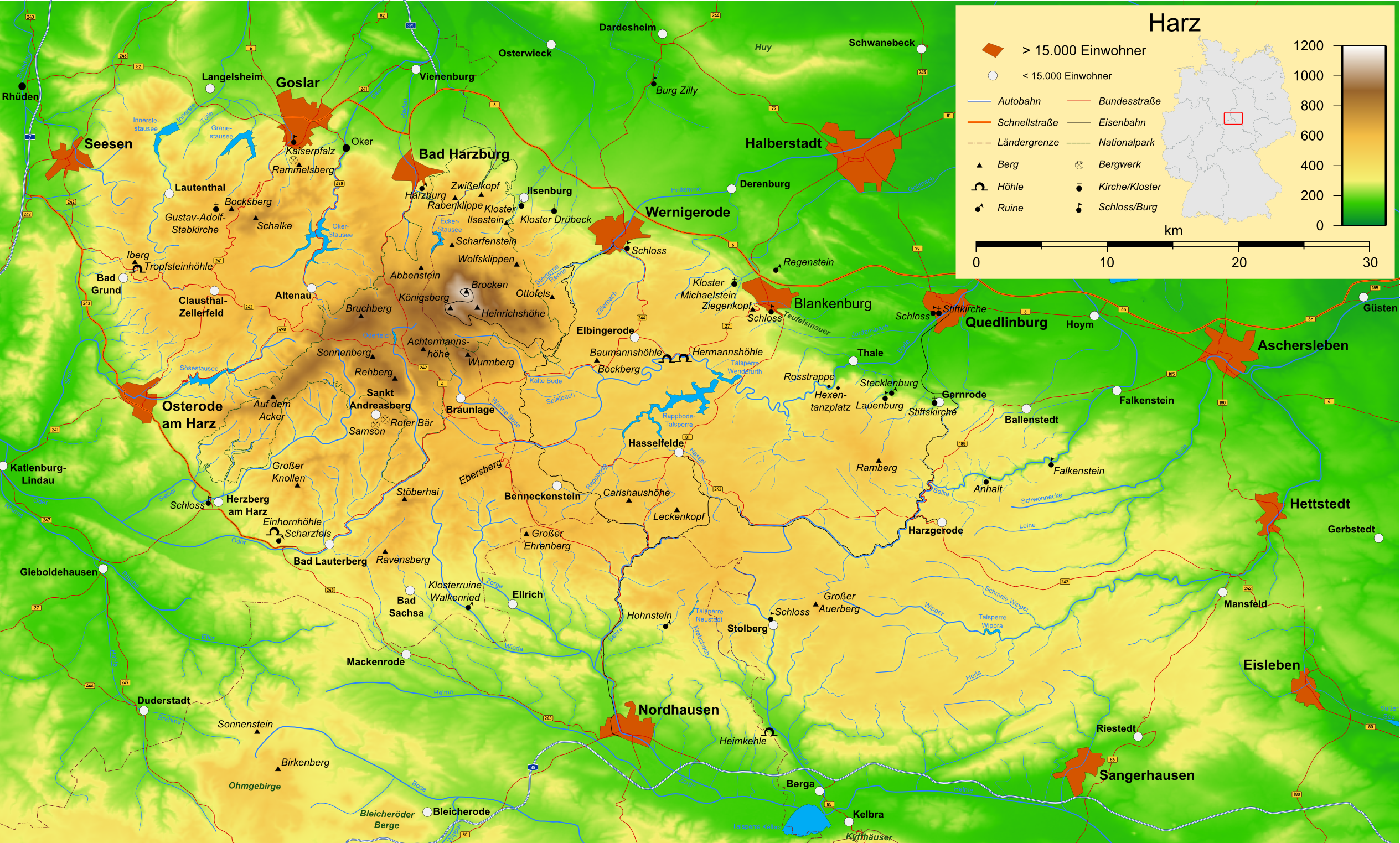 harz karte File:Harz map.png   Wikimedia Commons
