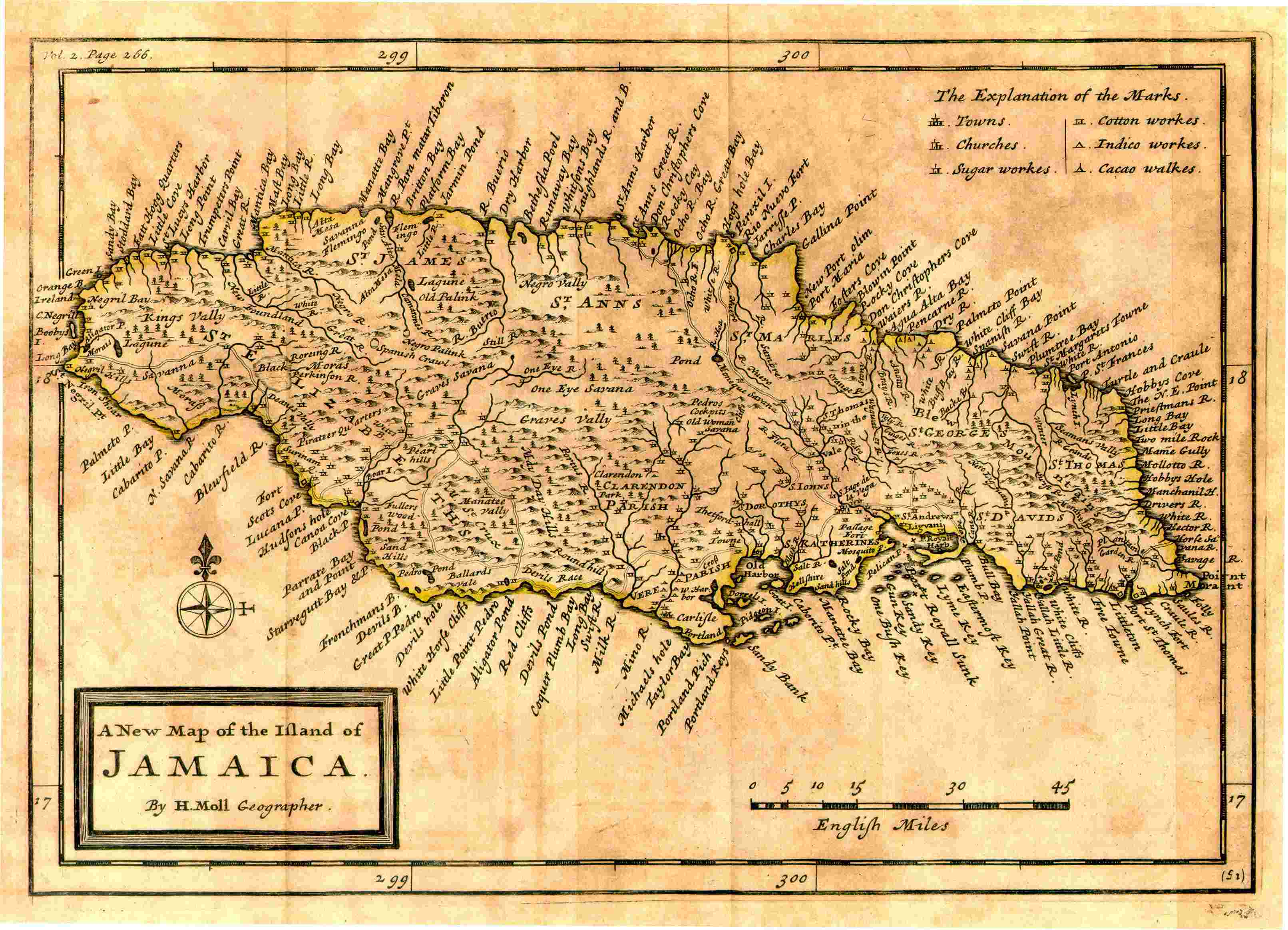 Datei:Herman Moll. A New Map of the Island of Jamaica. 1717.jpg ...