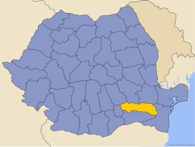 Administrative map of Руминия with Яломитса county highlighted