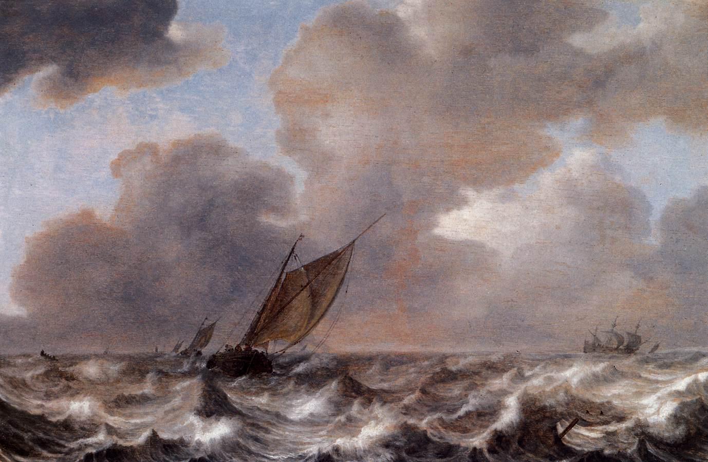 File:Jan Porcellis - Vessels in a Strong Wind - WGA18157 jpg