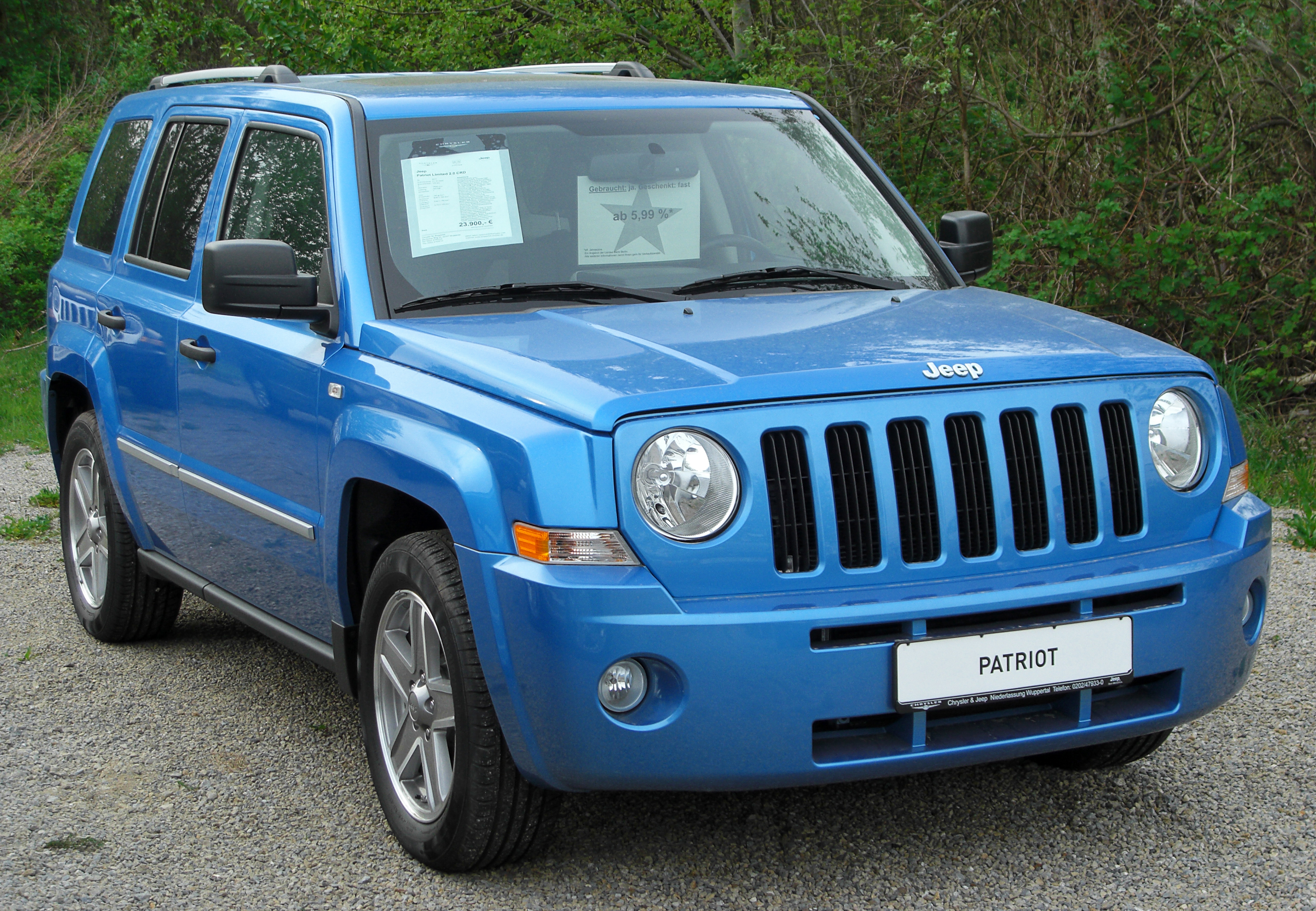 file:jeep patriot limited 2.0 crd front 20100429 - wikimedia