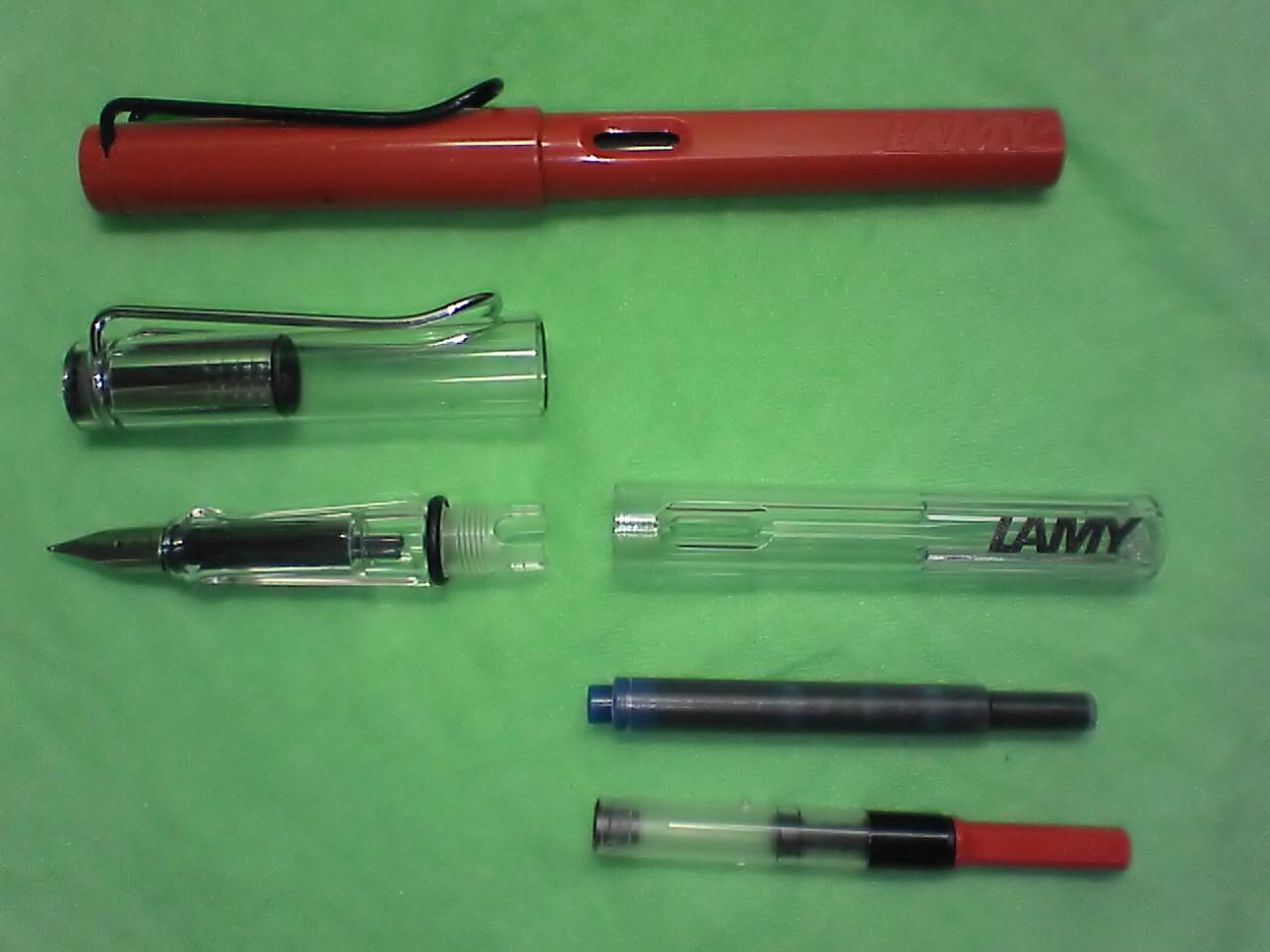Pump Fountain Pen Two Lamy Fountain Pens