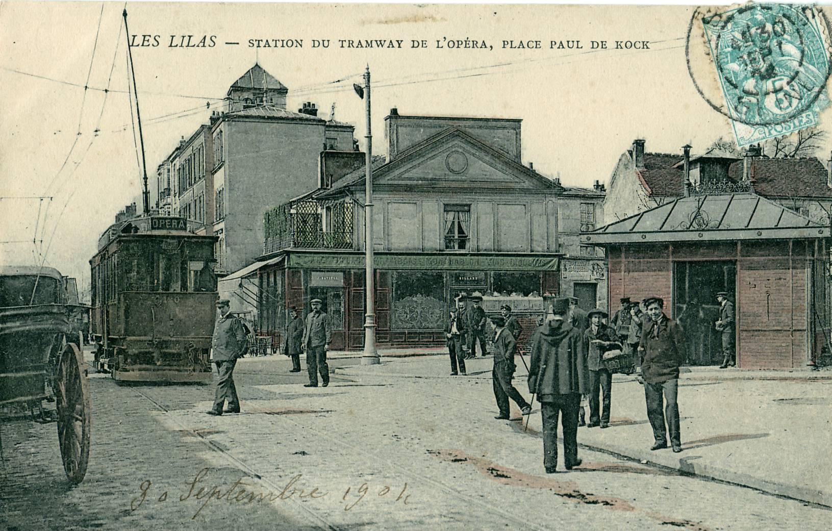 File les lilas station du tramway de l 39 op ra place paul de kock jpg - Tramway porte des lilas ...
