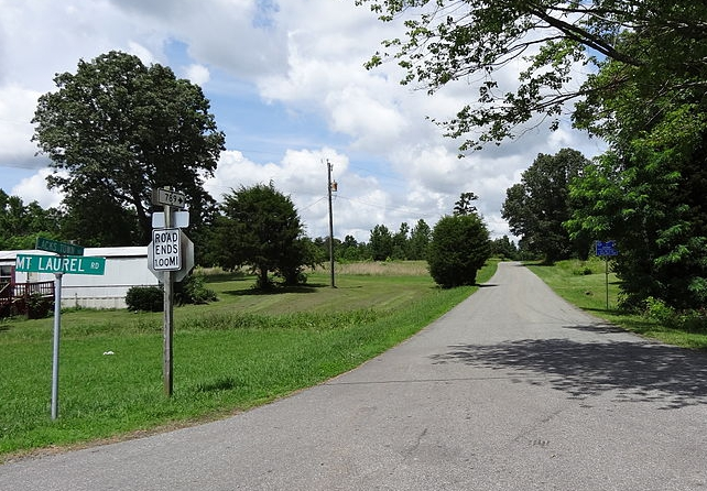 Lacks Town Road in Clover, Virginia, near where Lacks grew up and is buried