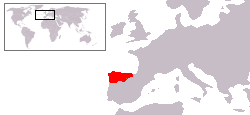 Location of Asturija