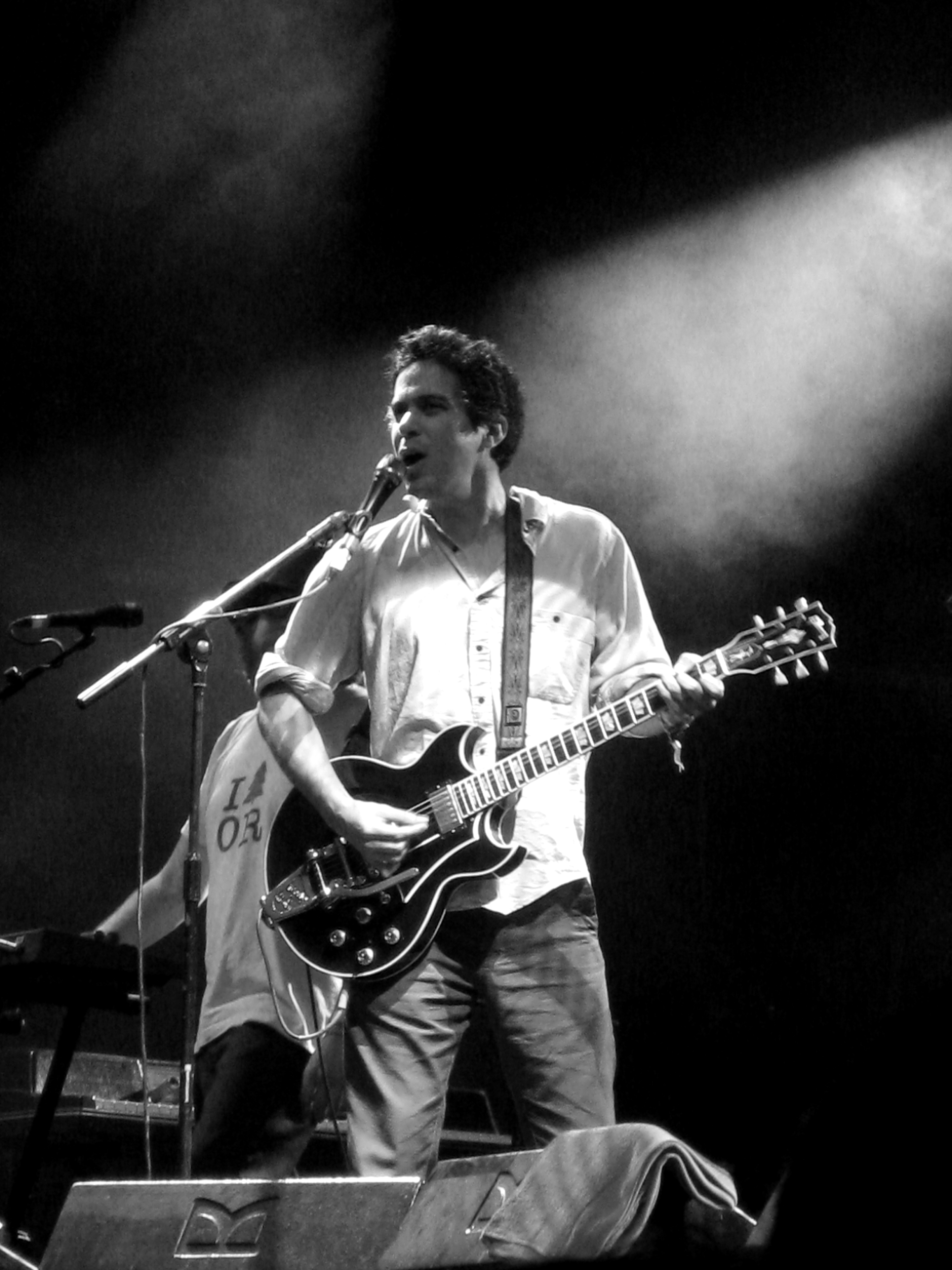 M. Ward performing live at the [[Glastonbury Festival]], 27 June 2009.