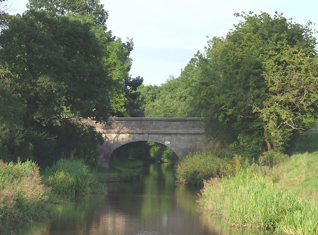 Macclesfield Canal at Stanley's Bridge, Buglawton, Cheshire - geograph.org.uk - 567837