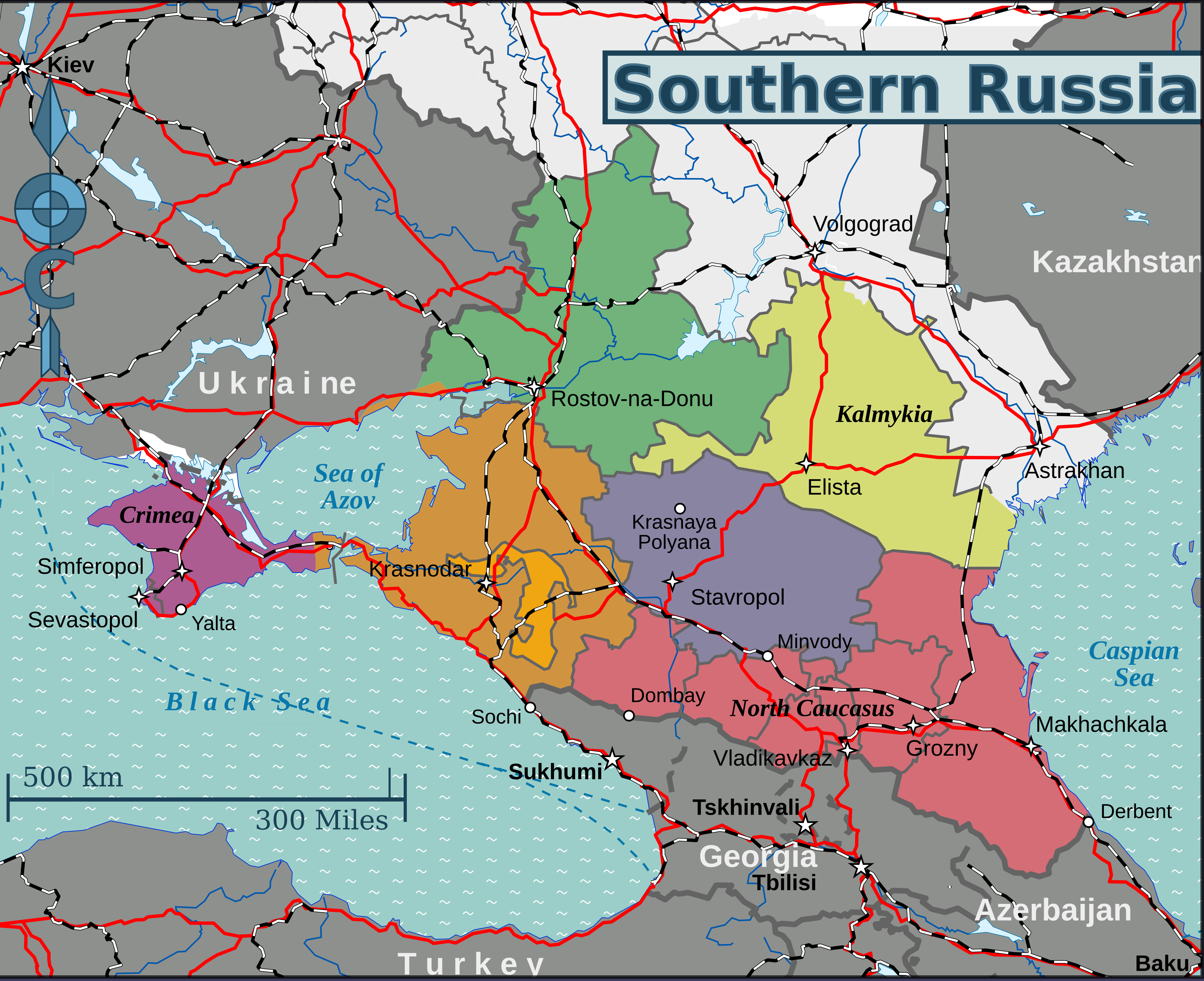 Cartina Russia Regioni.File Map Of Southern Russia En Png Wikimedia Commons