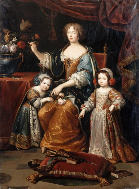 Mignard, after - Elisabeth Charlotte of the Palatinate, Duchess of Orléans, and her children - Versailles.png