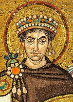 Mosaïque de Justinianus I - Basilique San Vitale (Ravenne) (1)
