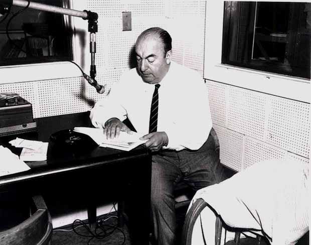 Neruda durante una visita a Estados Unidos en 1966.