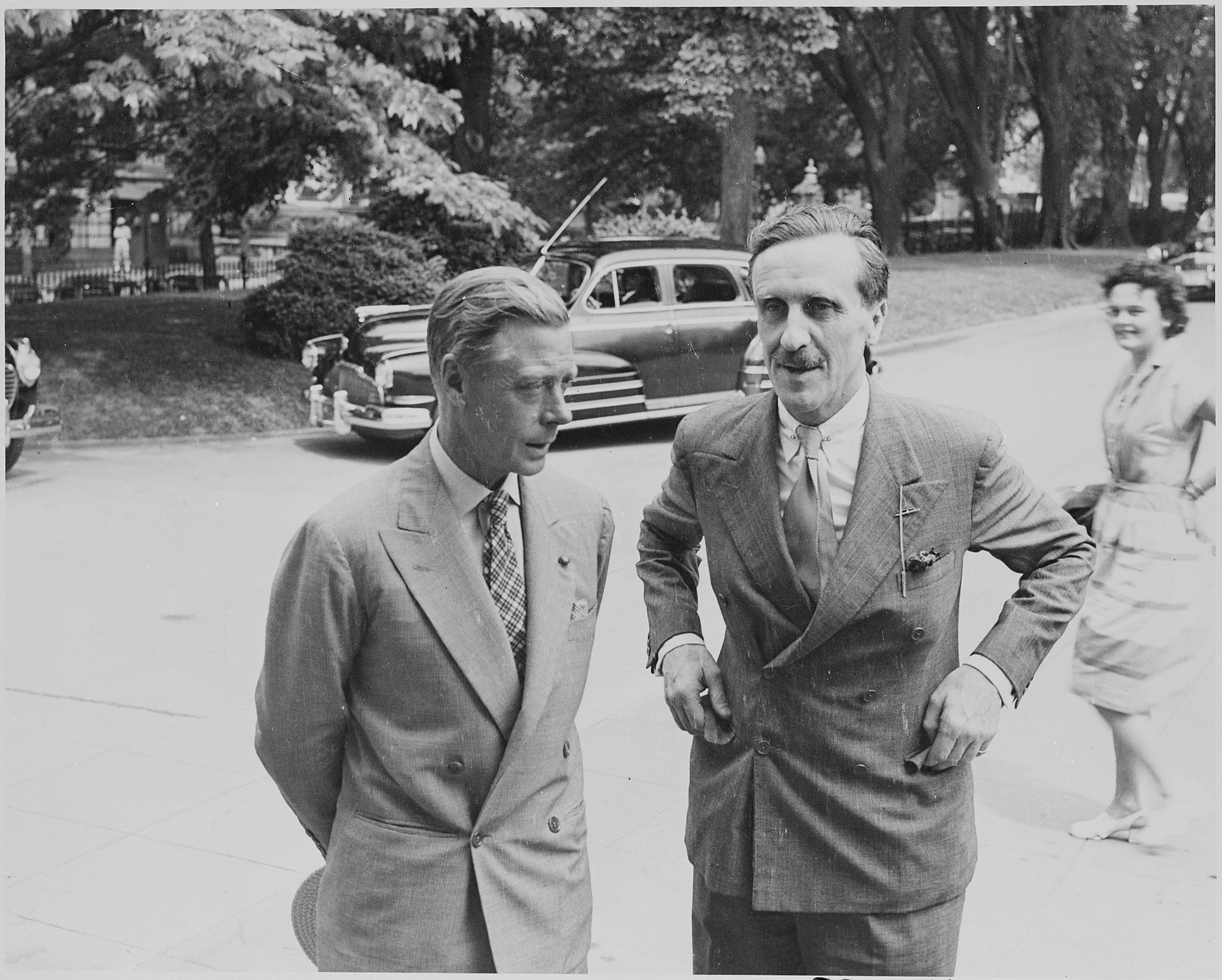 File Photograph Of The Duke Of Windsor And An Unidentified Man Possibly M J Balfour Outside