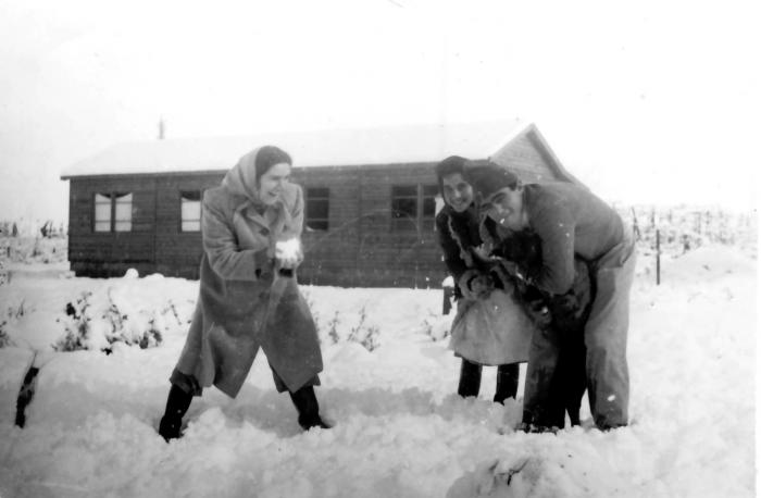 גן-שמואל בשלג 1950