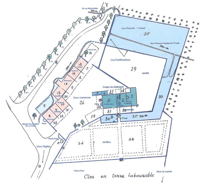 File Plan Cour De La Maison Forte Choisel Couleur 1775 Png