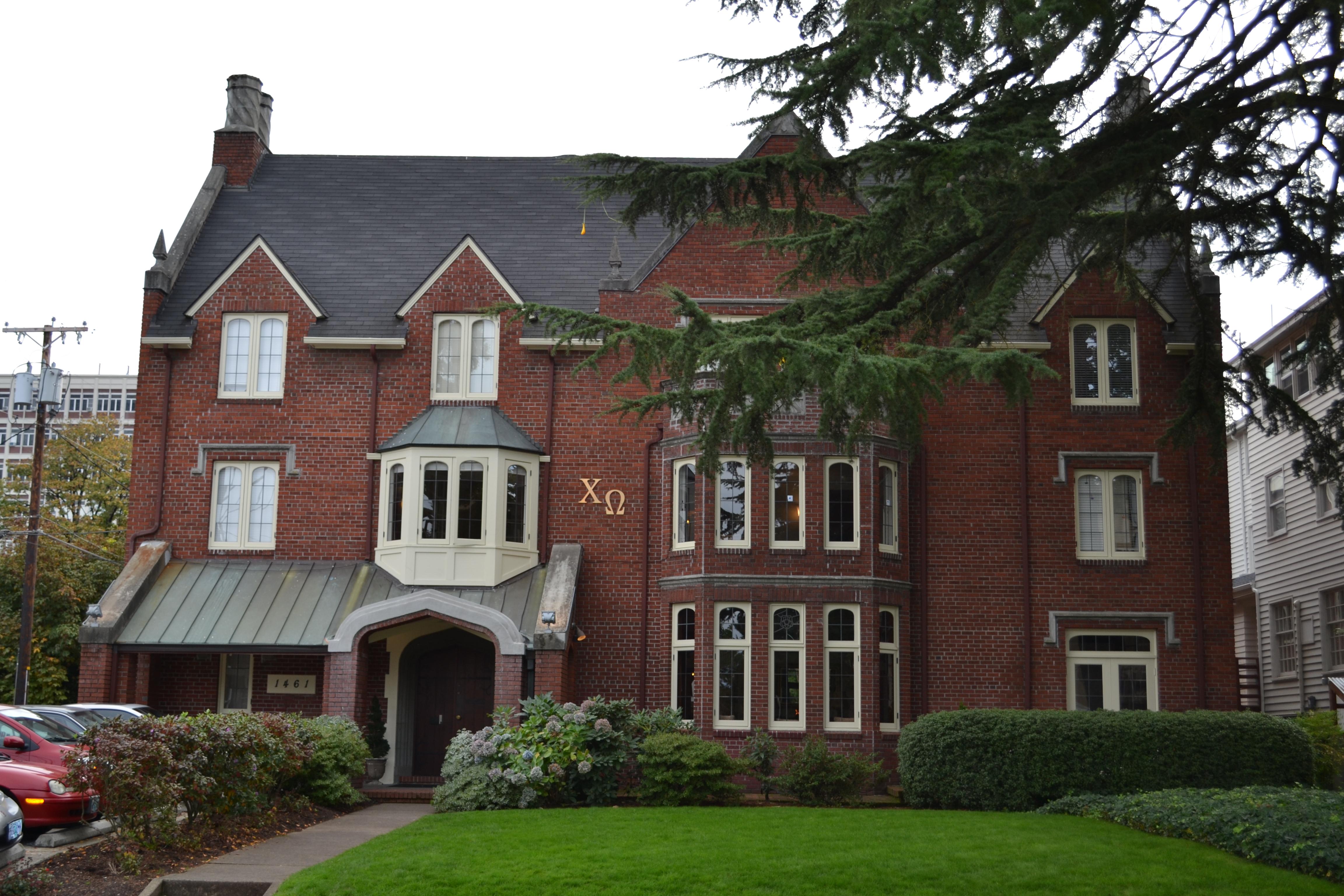 File psi alpha chapter chi omega house eugene oregon for Building a home in oregon