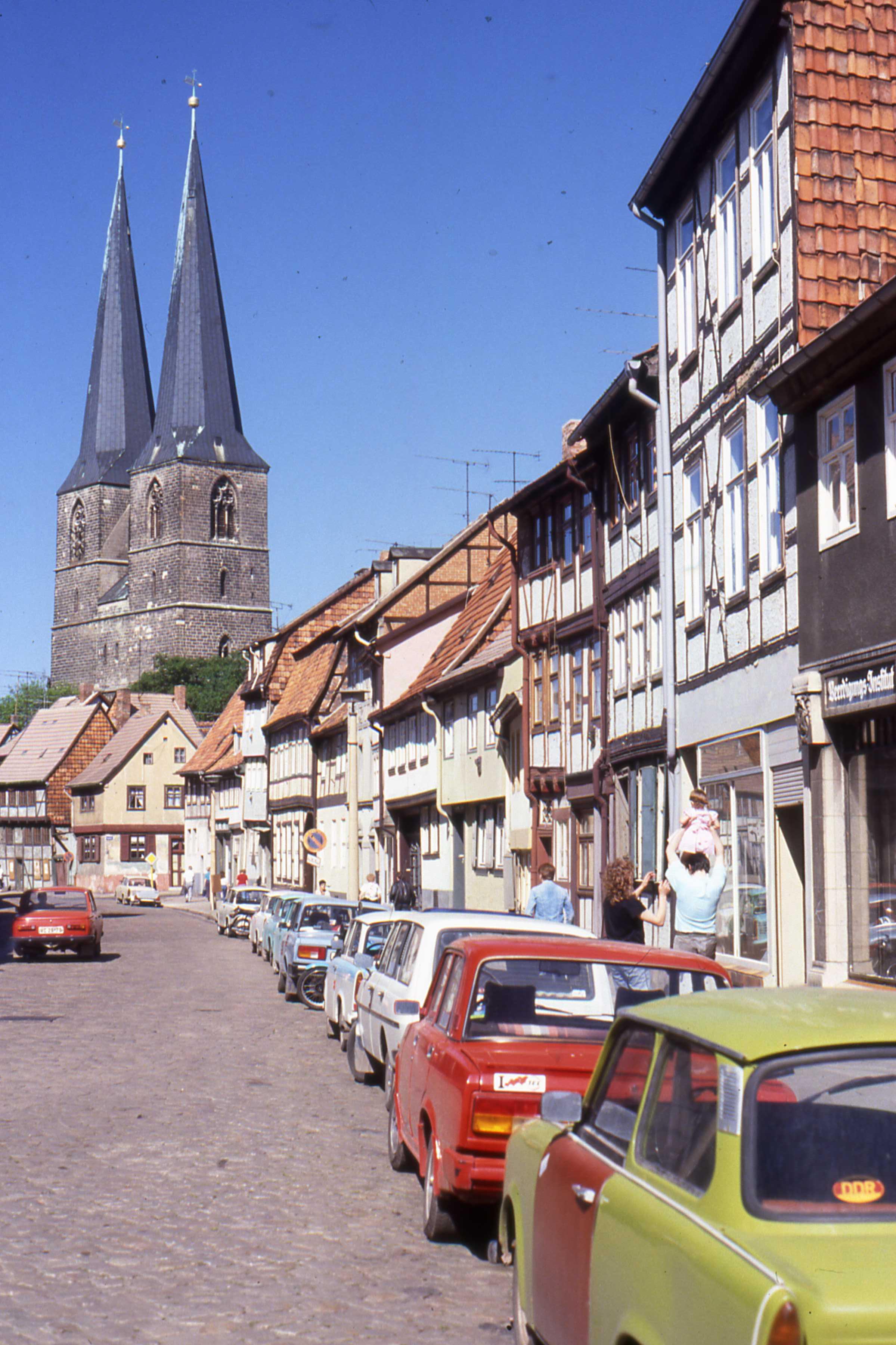 File:Quedlinburg DDR with St Nicholas Church, May 1990.jpg