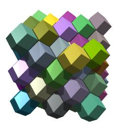 Rhombic dodecahedral tiling