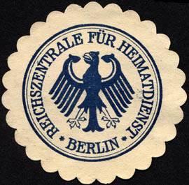 The seal of the Reichszentrale für Heimatdienst, ca. 1925