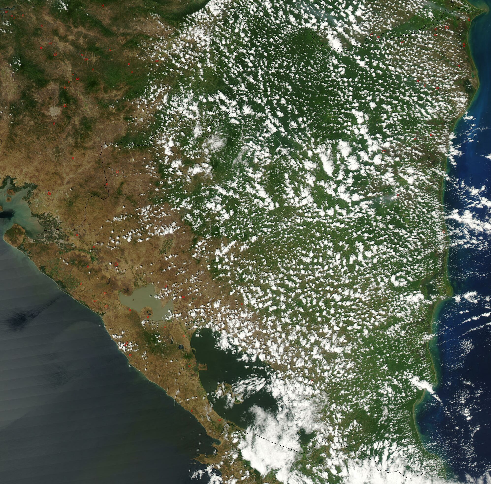 Satellite Image Of Nicaragua In March on Lake George Colorado Weather