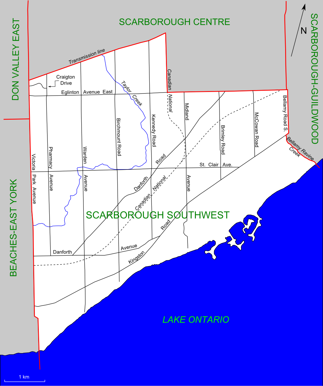Scarborough Canada Map File:Scarborough Southwest (riding map).png   Wikipedia