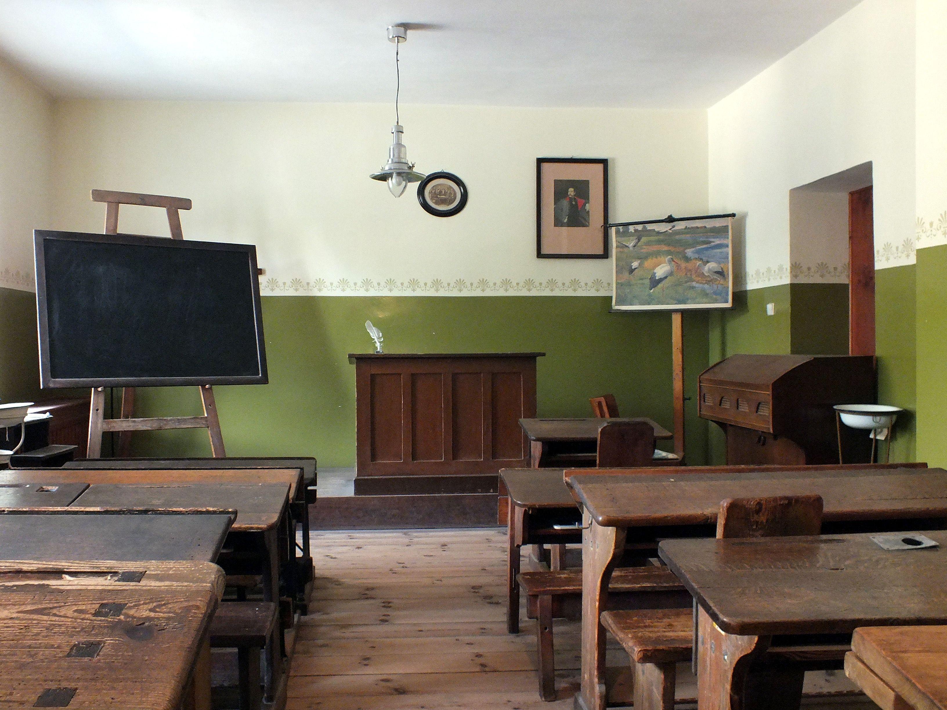 Schule Früher Klassenzimmer