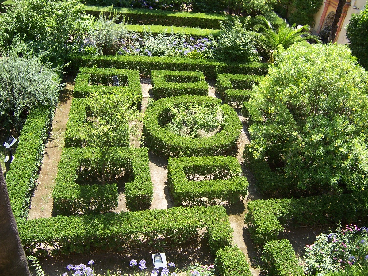 Jardines del alc zar de sevilla wikipedia la - Jardines verticales sevilla ...