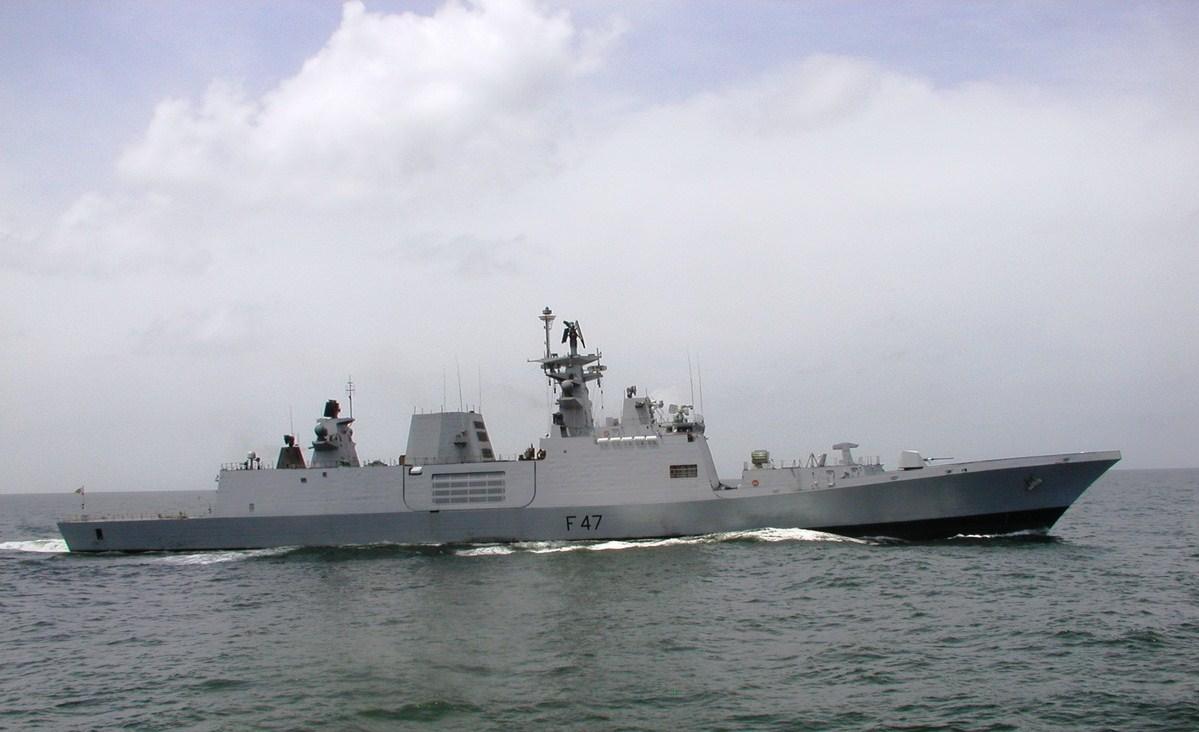 India comissiona sua primera fragata Stealth de produção nacional