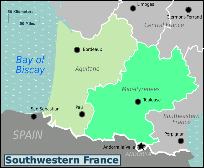 FileSouthwestern France WV Map PNGpng Wikimedia Commons - Limoges france map