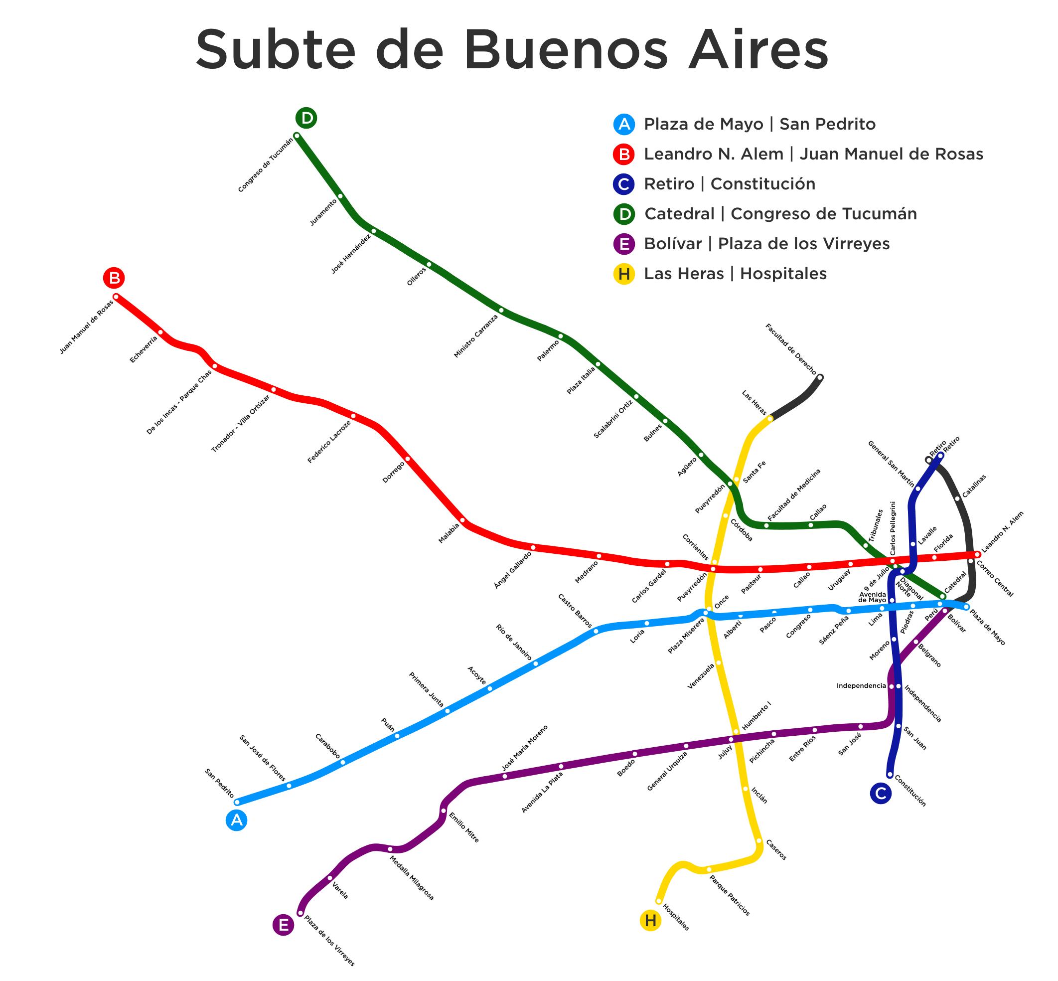 Buenos Aires Underground 布宜諾斯艾利斯 地铁