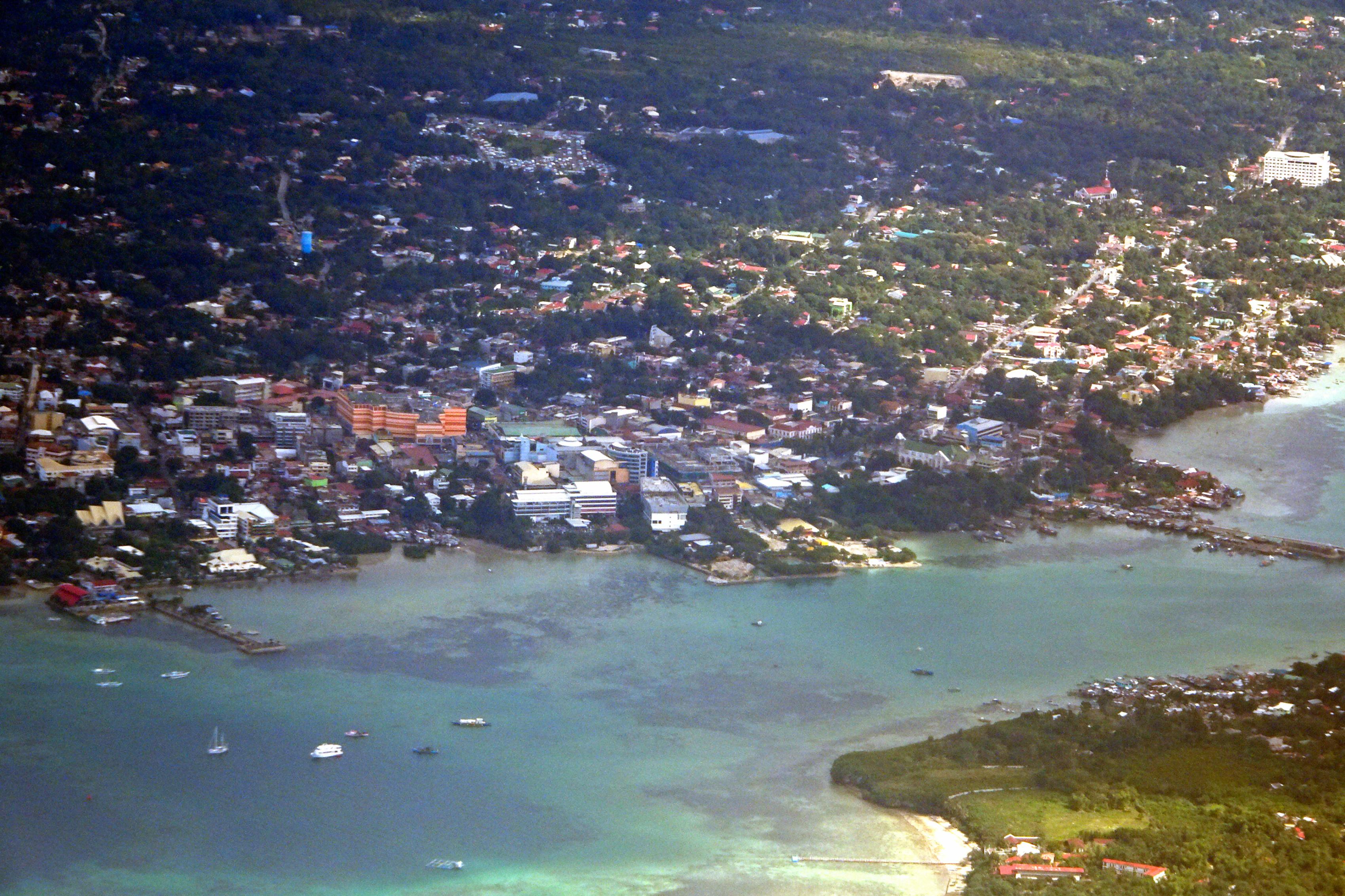 An aerial view of Tagbilaran City, Bohol