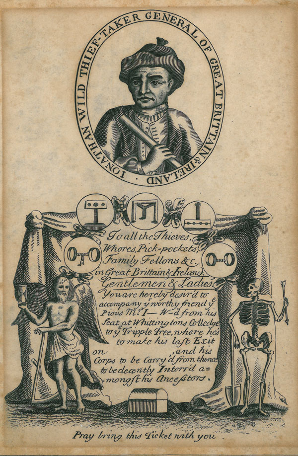 Ticket for the execution of Jonathan Wild (1725)