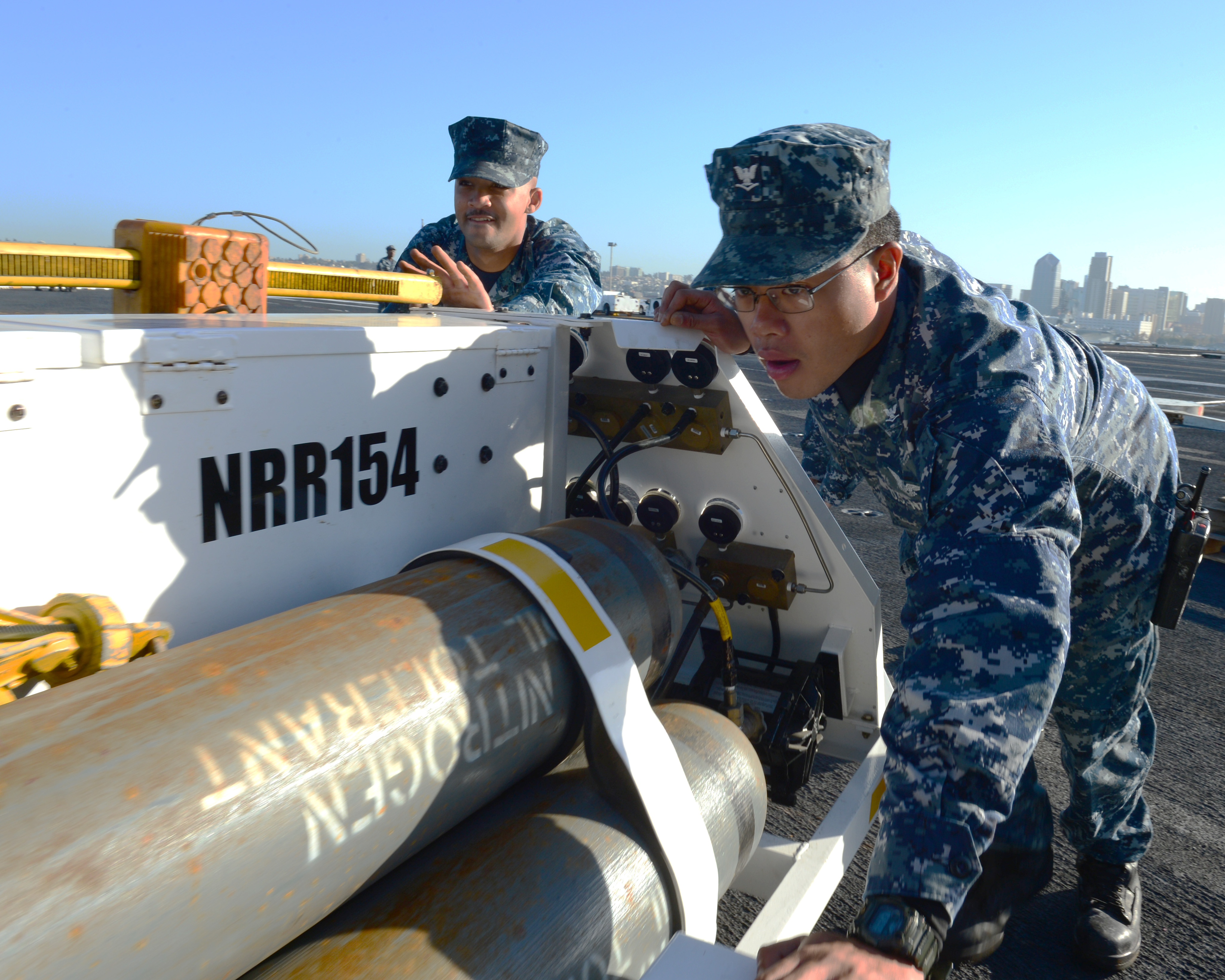 File U S Navy Aviation Boatswain S Mate Handling 3rd