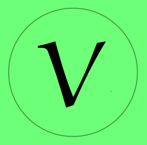 "English: ""V"" icon as as symbol for v..."