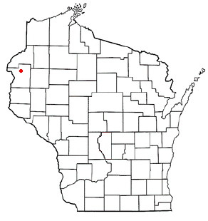 Location of Luck (town), Wisconsin