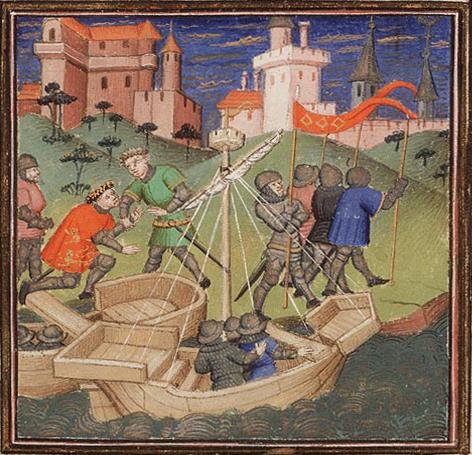 Пост иллюстрирован всевозможными средневековыми миниатюрами из Wikimedia Commons. Источник по клику на картинку. William the Conqueror invades England