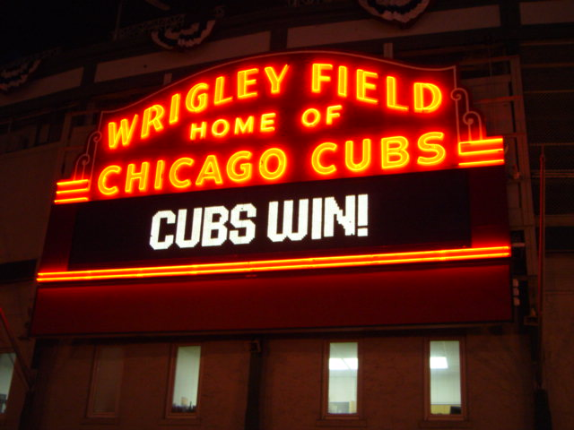 did cubs win last night