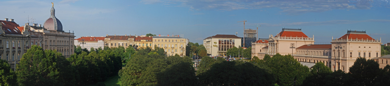 View of Zagrabe Main Station area from Esplanade Hotel, Zagreb