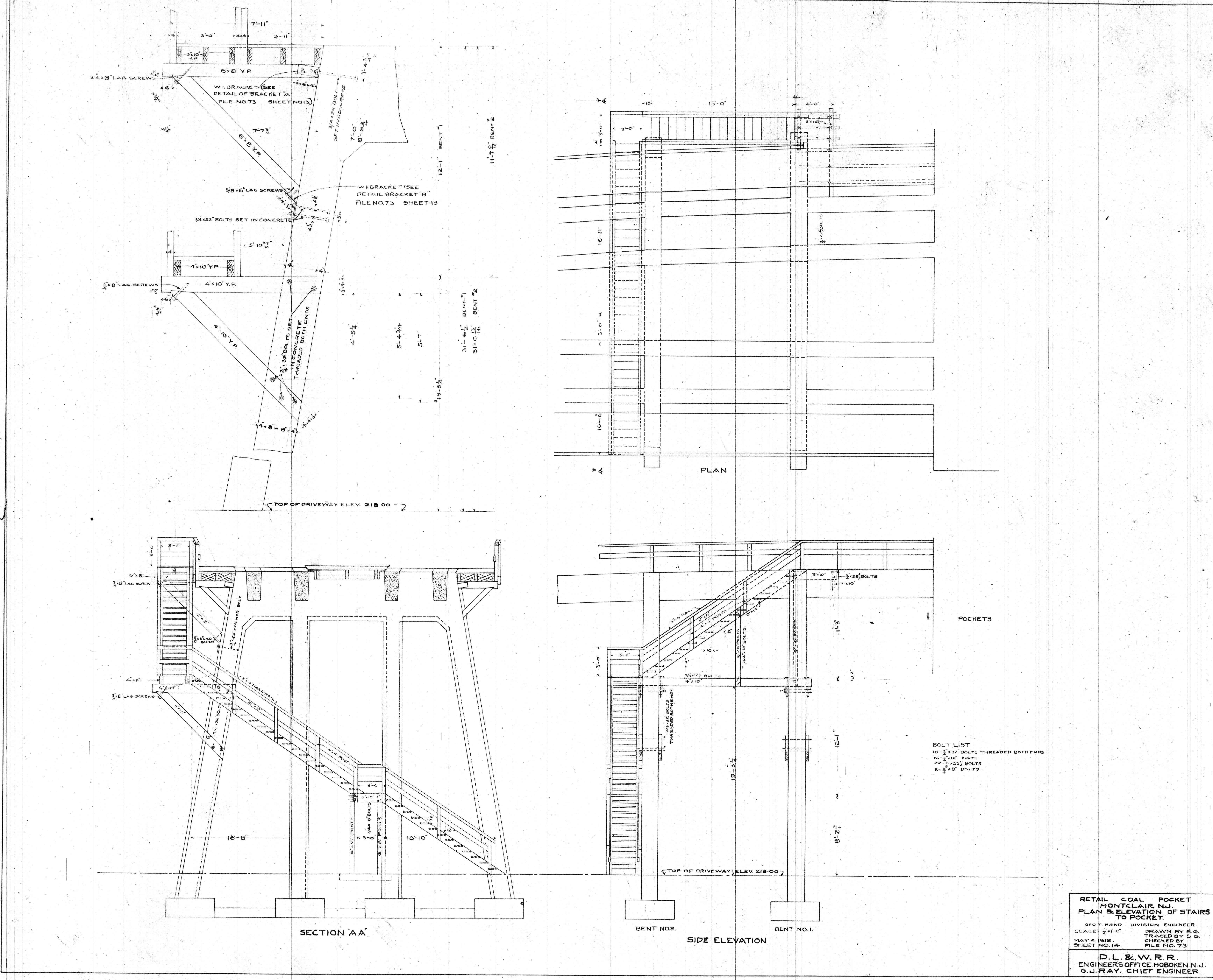 File:00073 BP--Retail coal pocket--Plan and elevation of stairs to