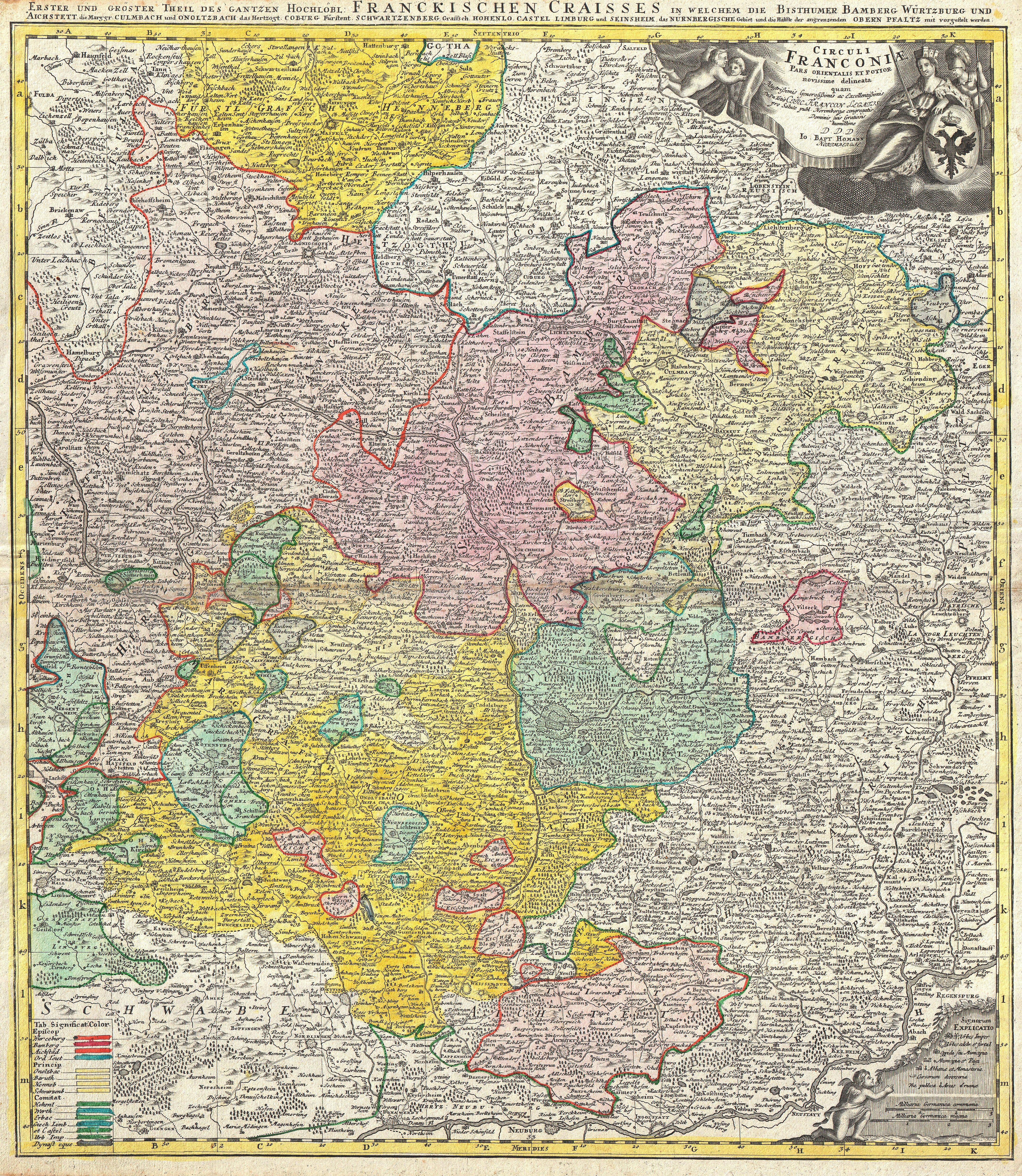 Map Of Germany Nuremberg.File 1720 Homann Map Of Franconia Germany Bavaria Bamberg