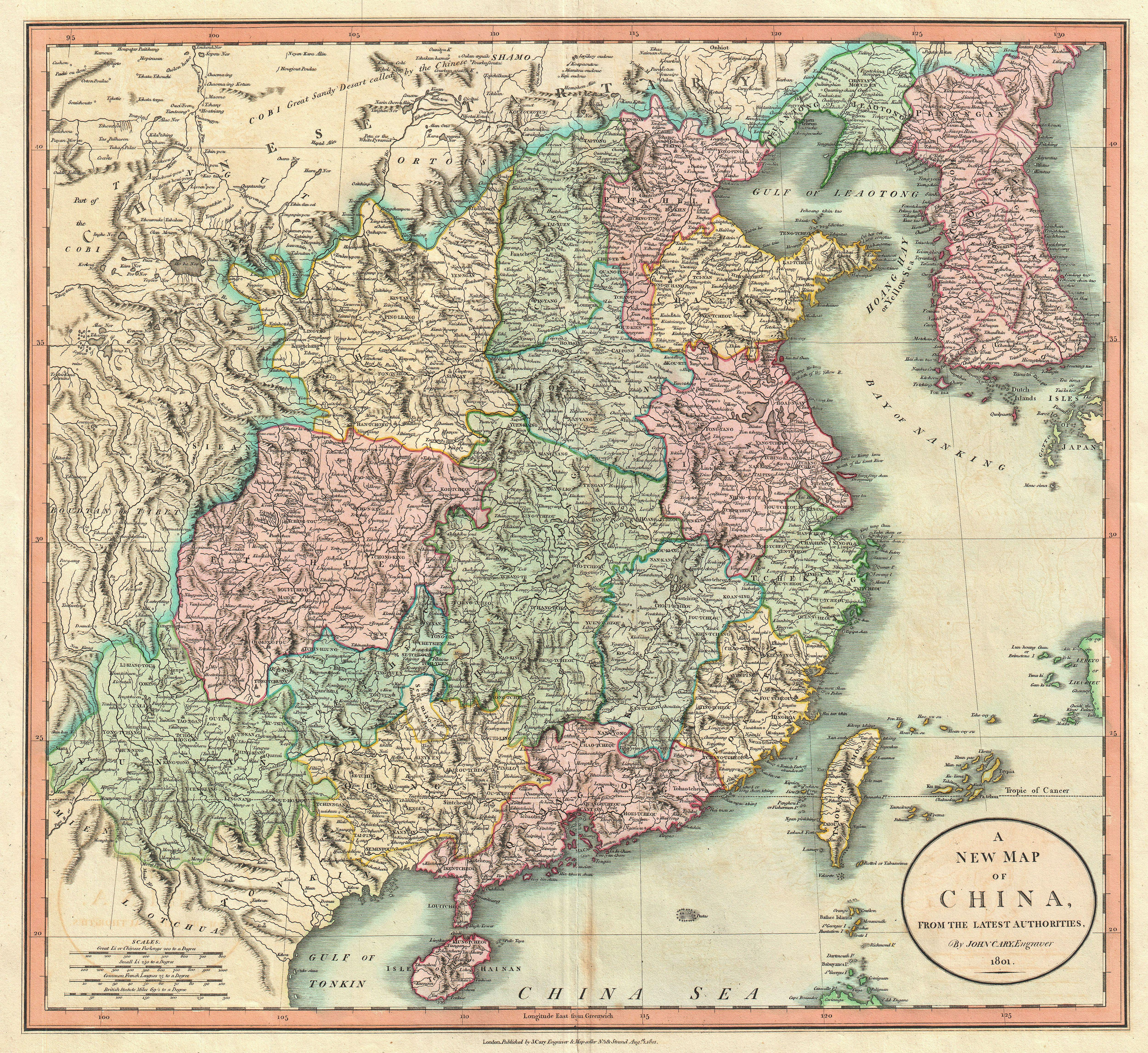 File:1801 Cary Map of China and Korea - Geographicus - China-cary-