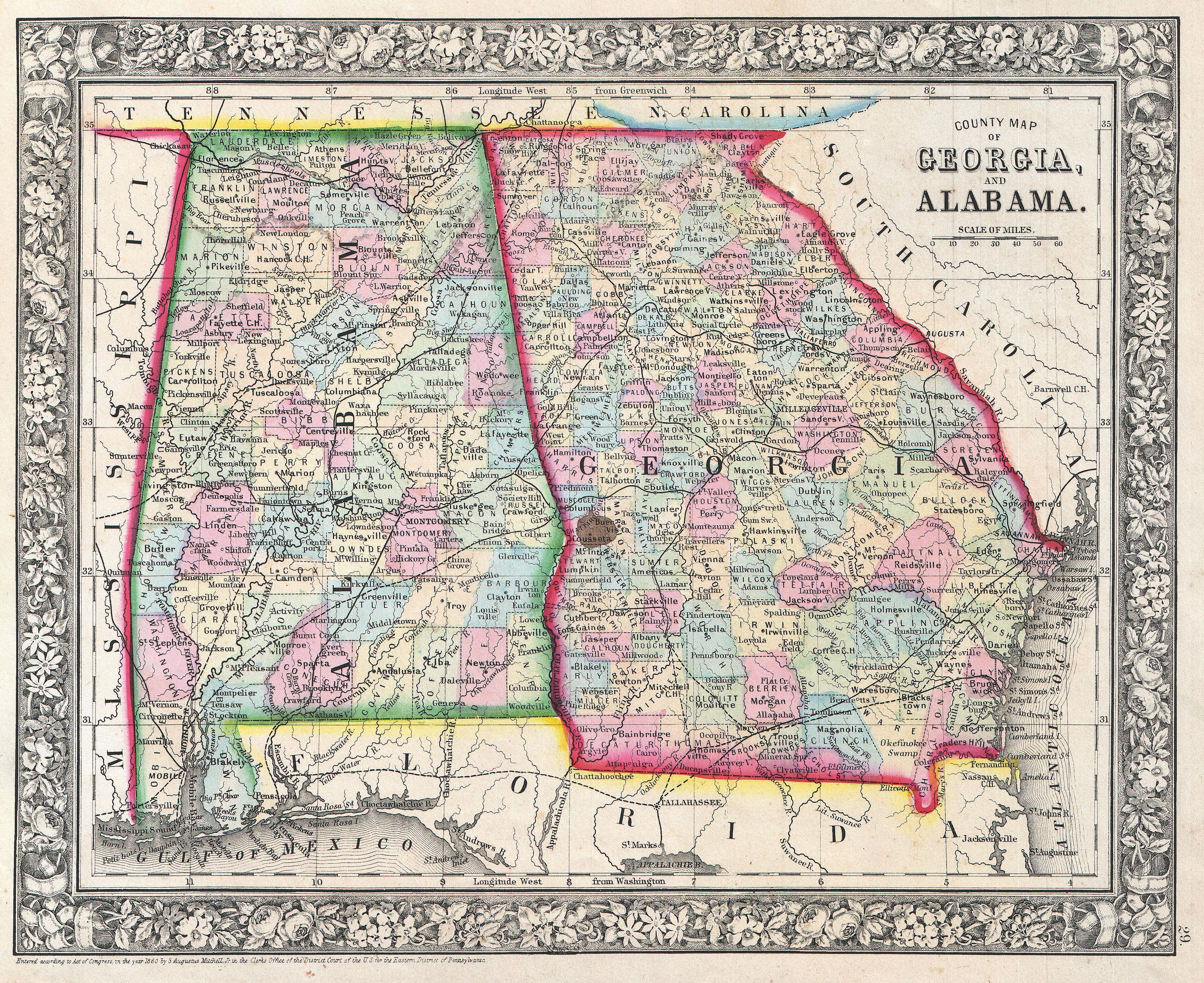 mississippi highway map with File 1864 Mitchell Map Of Georgia And Alabama   Geographicus   Gaal Mitchell 1860 on Tn002 furthermore Vermont Road Map in addition Large Scale Roads And Highways Map Of Minnesota State With National Parks And Cities furthermore World Map 1492 in addition Belize Satellite Image.