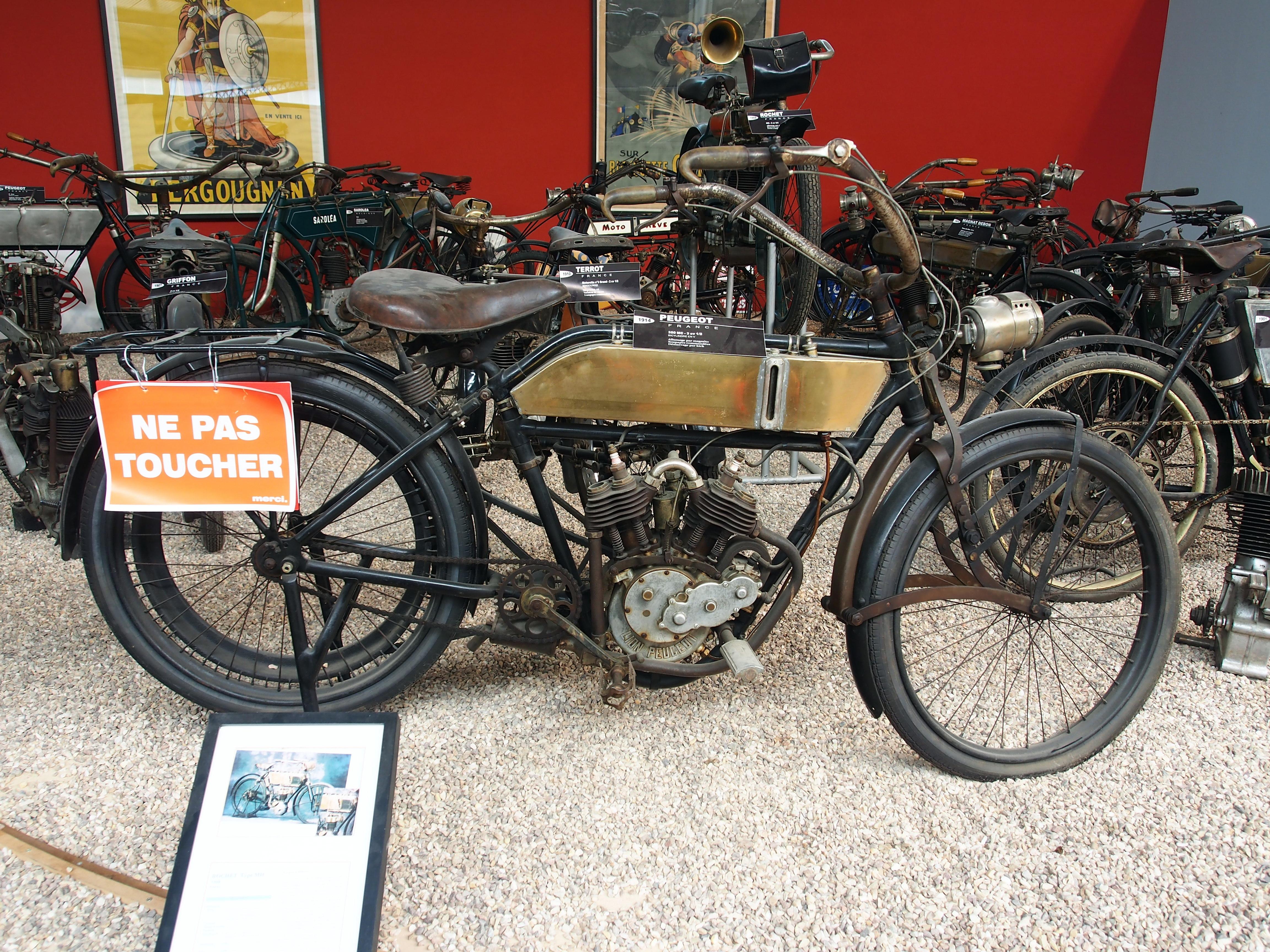 file 1914 peugeot 350 mc 3 5cv mus u00e9e de la moto et du v u00e9lo  amneville  france  pic