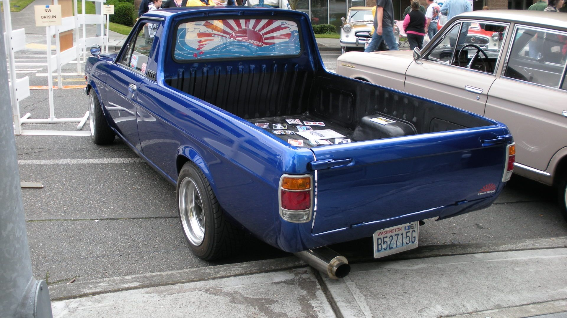 1974 Datsun Pick Up for Sale http://commons.wikimedia.org/wiki/File:1974_Datsun_1200_pickup_rear_%26_side.jpg