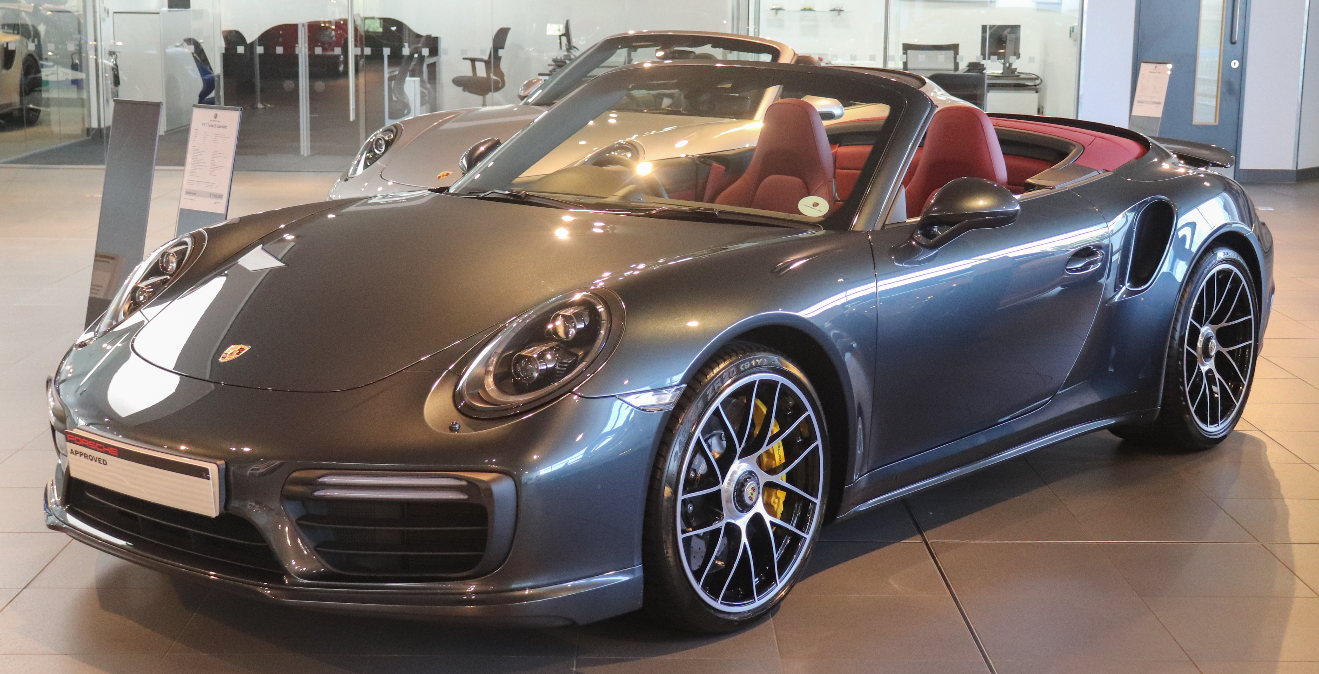 File 2017 Porsche 911 Turbo S Cabriolet 3 8 Jpg Wikimedia