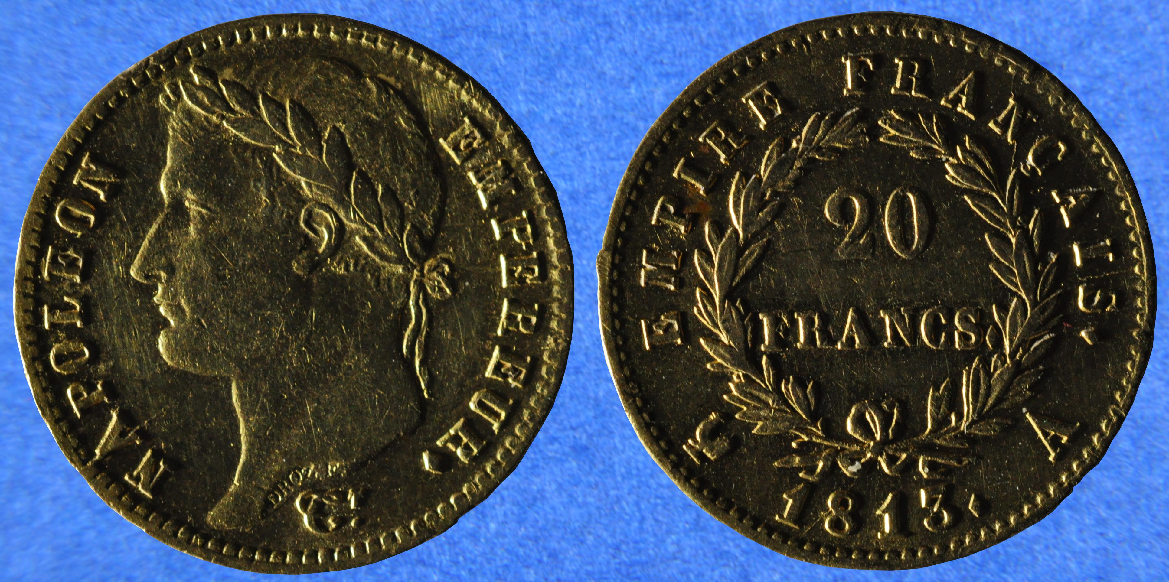 File:20 francs Napoléon 1er Premier Empire 1813 (29729381553