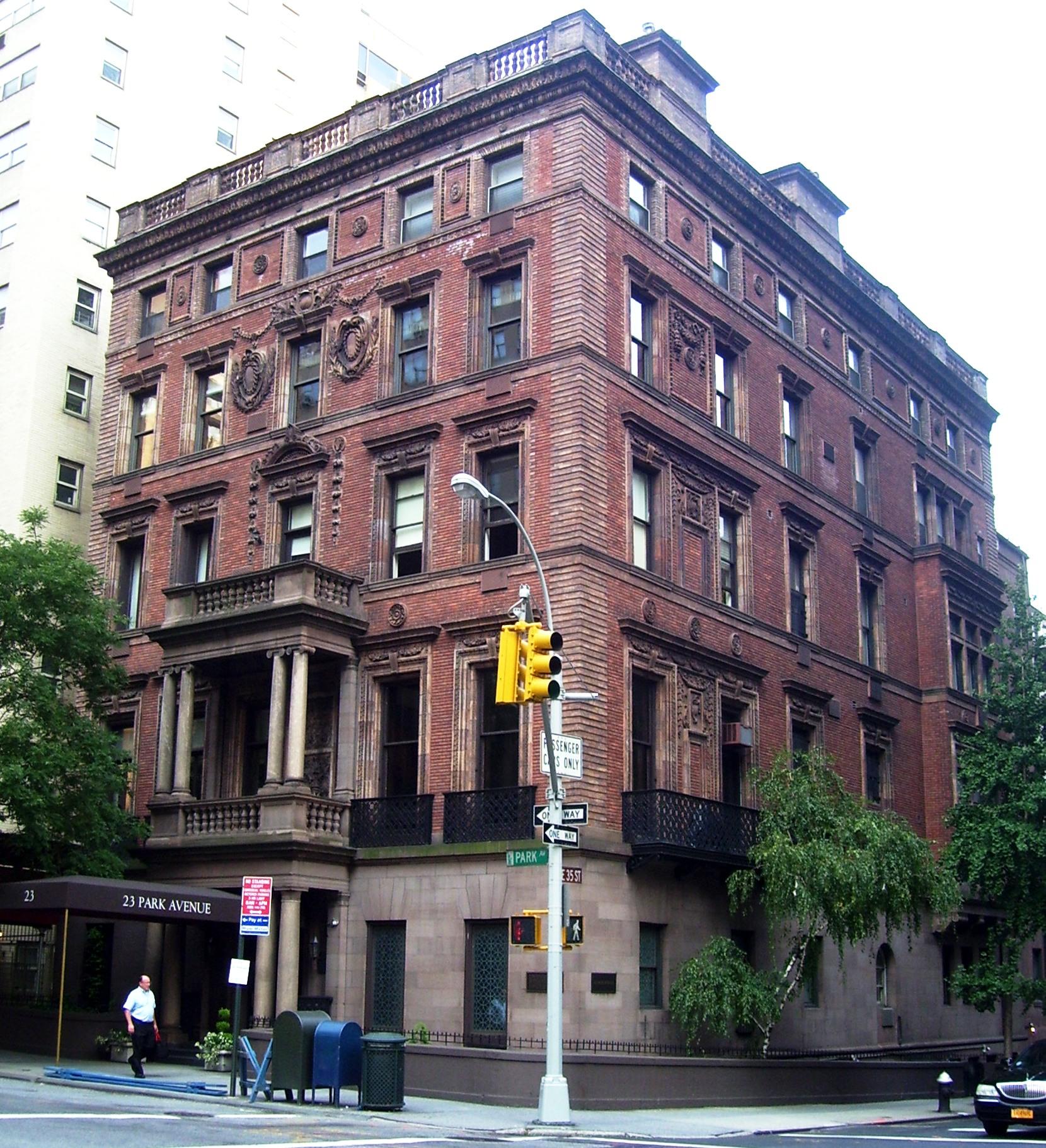 Small Luxury Apartment Buildings: File:23 Park Avenue Robb House.jpg