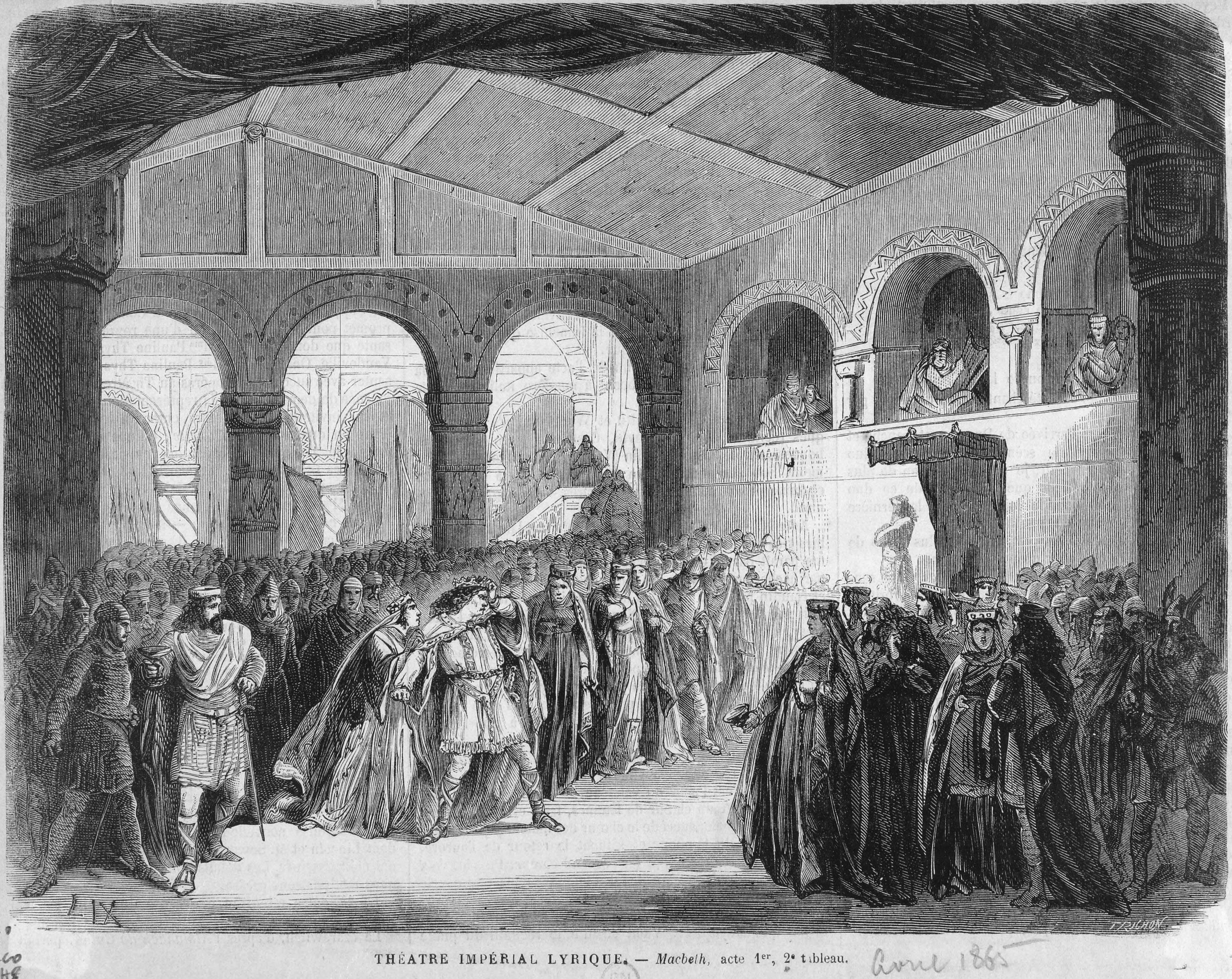 Bozzetto della Scena II Atto I, per la messa in scena del 1865 al Théâtre Lyrique