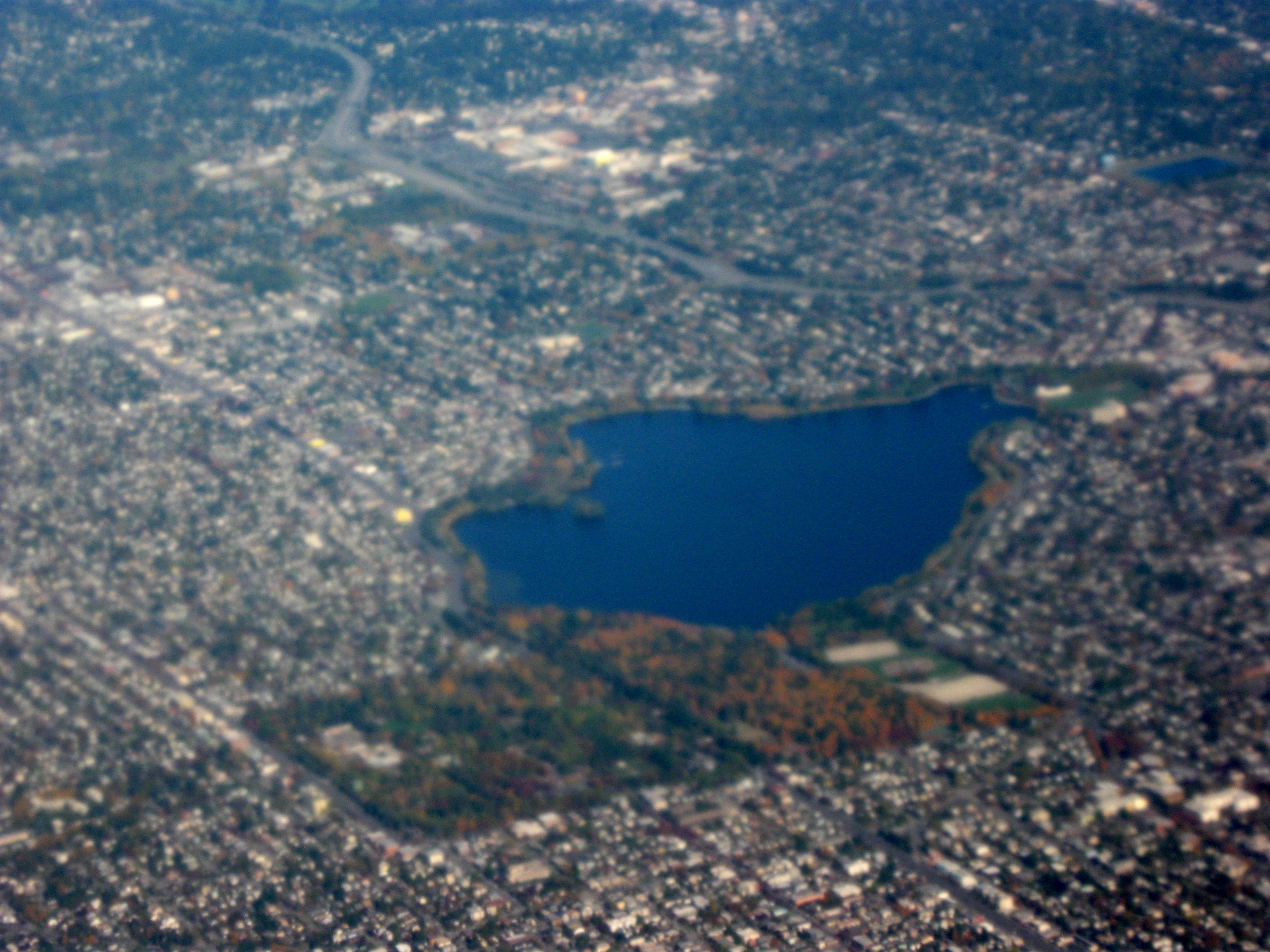 Aerial View of Green Lake