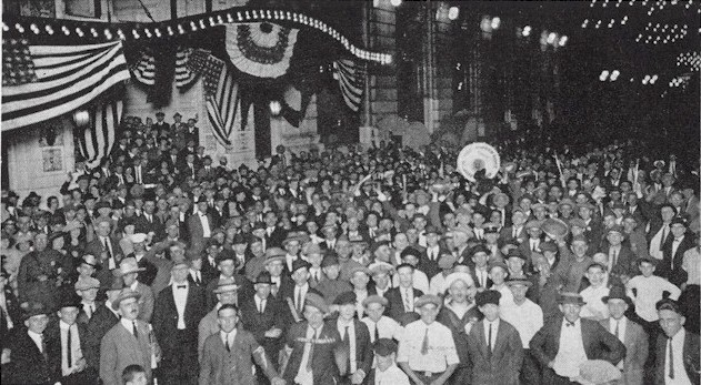 Crowd at American Legion Convention held in New Orleans, 1922 Am Legion Crowd 1922 New Orleans Convention.jpg