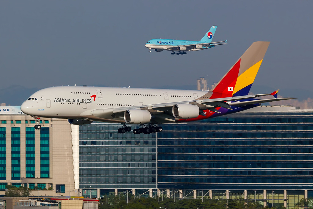 Korean Air Beli Asiana Airlines | PinterPoin